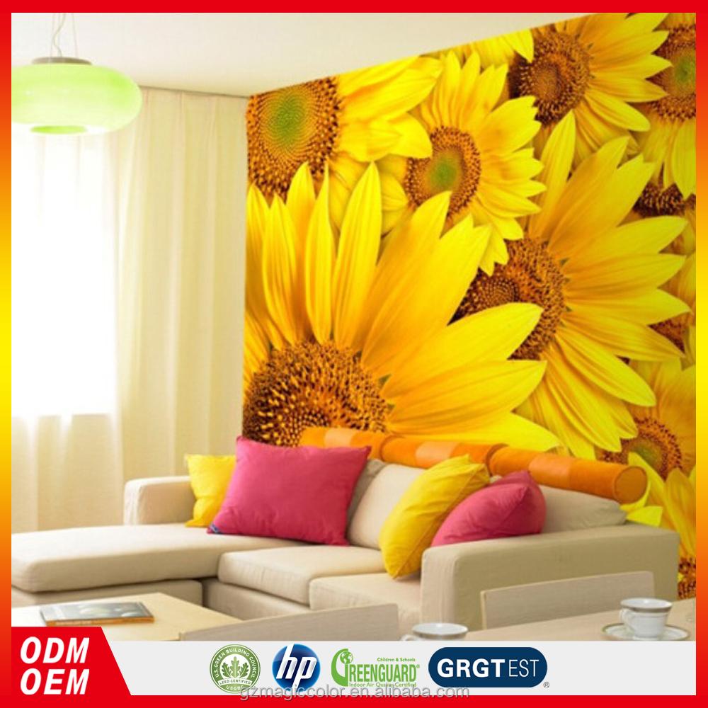 Amarelo Girassol Papel Fotogr Fico Grande Mural Papel De Parede Para