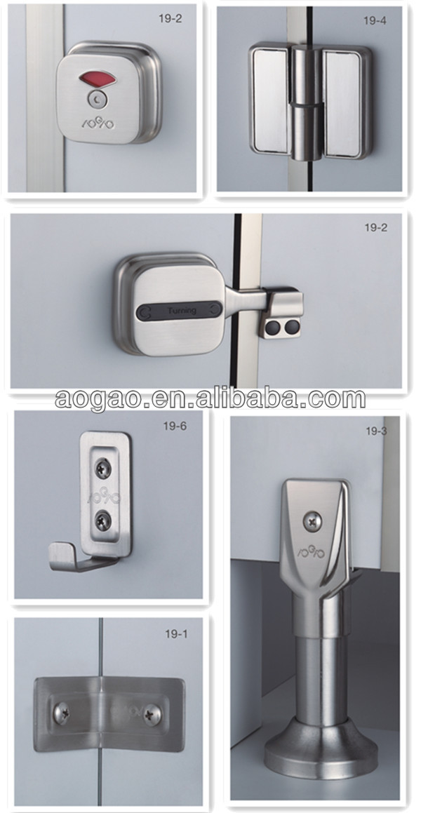 Cubicle Toilet Partition Hardwareaccessories Buy Cubicle Hardware - Bathroom partition hardware