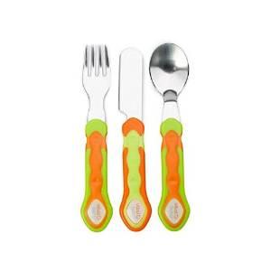 Vital Baby Stainless Steel Cutlery Set, Orange