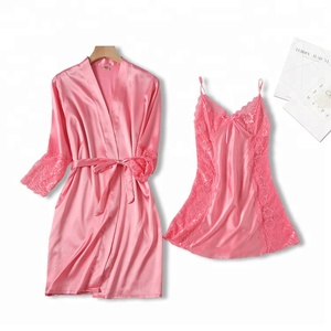 robe and lace babydoll hot sexy transparent nighties
