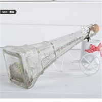 small bulk clear glass eiffel tower flower vases wholesale