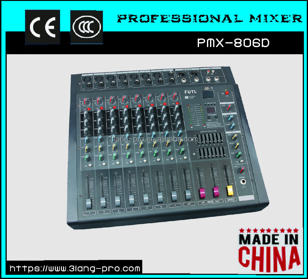 PMX Series Built-in power amplifier USB professional audio sound DJ mixer console