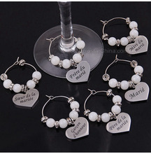 Wedding DIY Decorations French Luxurious Events Table Decorative Crafts Party Supplies Wine Glass Charms