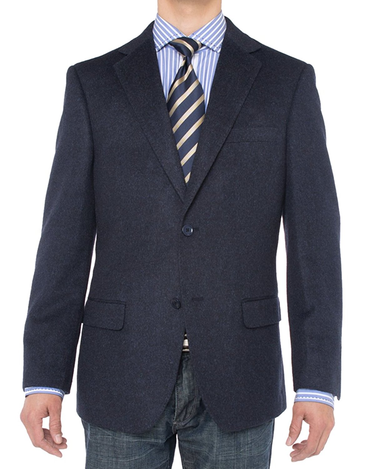 049dc005f57 Get Quotations · LN LUCIANO NATAZZI Luciano Natazzi Men s Camel Hair Blazer  Modern Fit Suit Jacket (42 Short