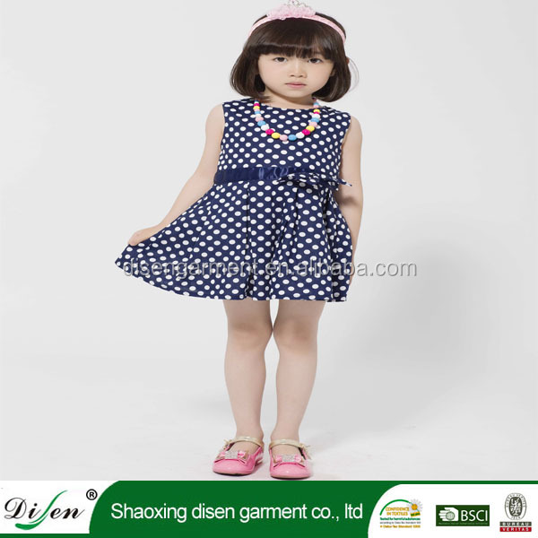 Cotton fashion design simple small girls christmas dress