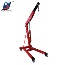 3 ton portable manual small hydraulic engine shop crane for sale