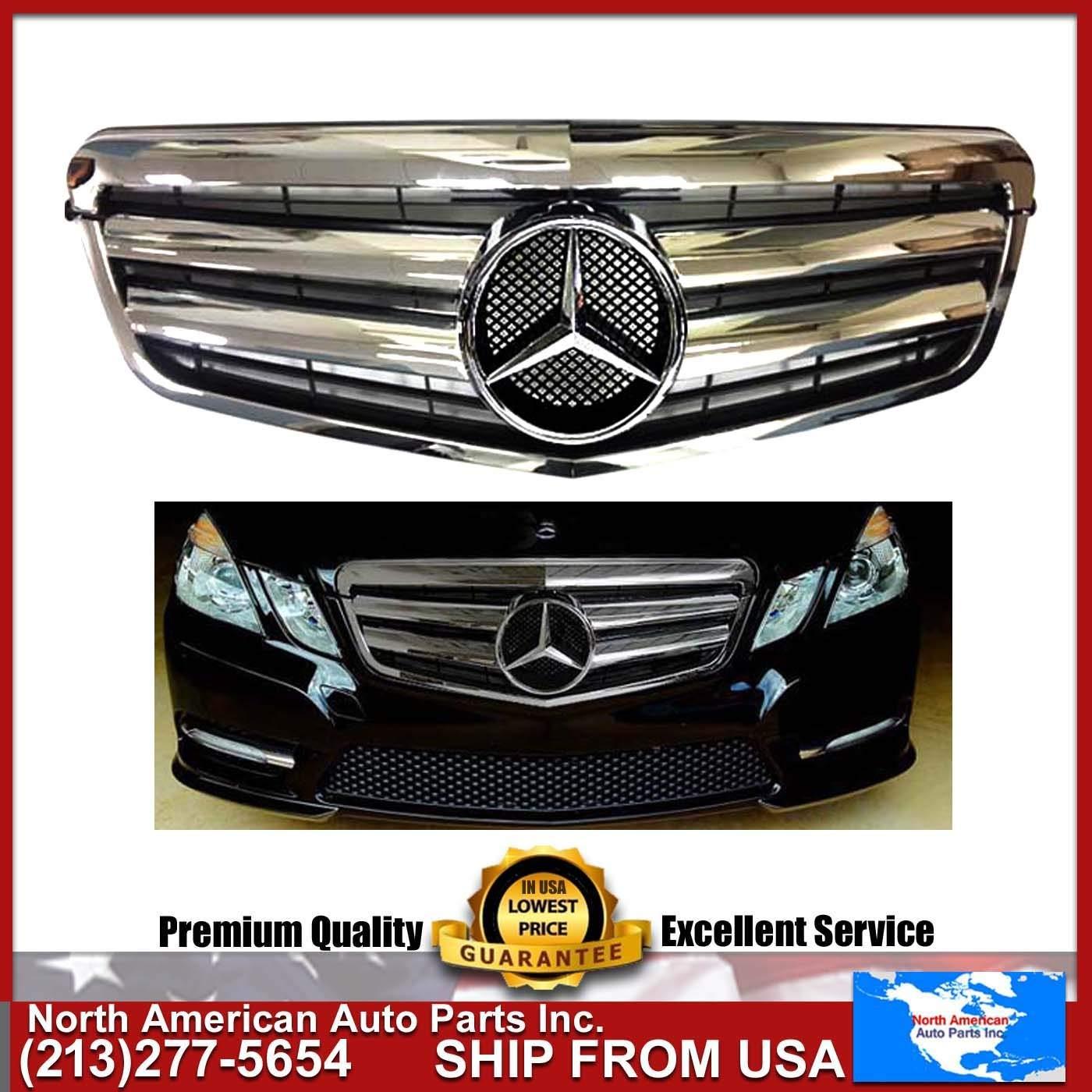 Fits 03-06 Benz R230 SL Class 2Dr Front Grille Black ABS Authentic Star Emblem