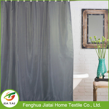 Grey Woven Polyester Thick Bathroom Shower Curtain Waterproof Window