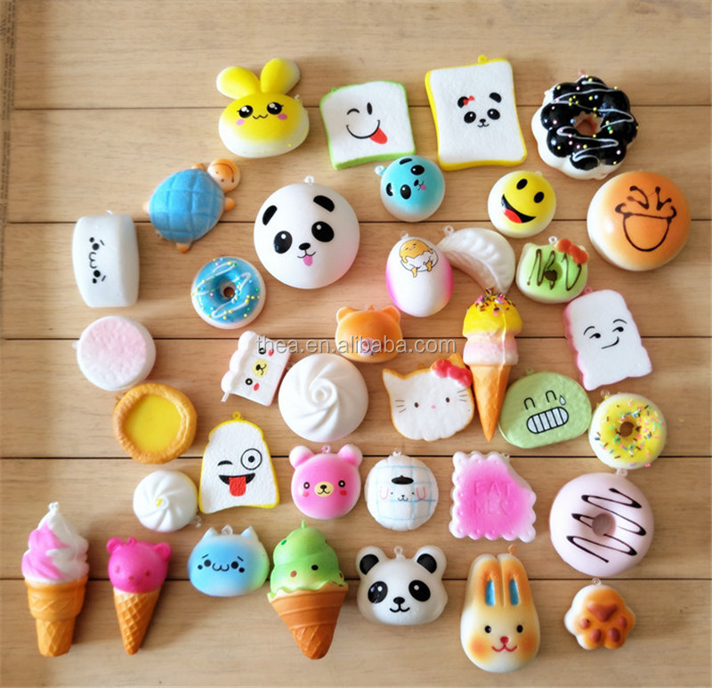 anti stress toys ice cream cake face emoji food squishy toys scented soft PU foam slow rising kids toys
