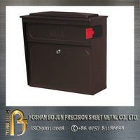 Customized high quality OEM iron antique mailbox