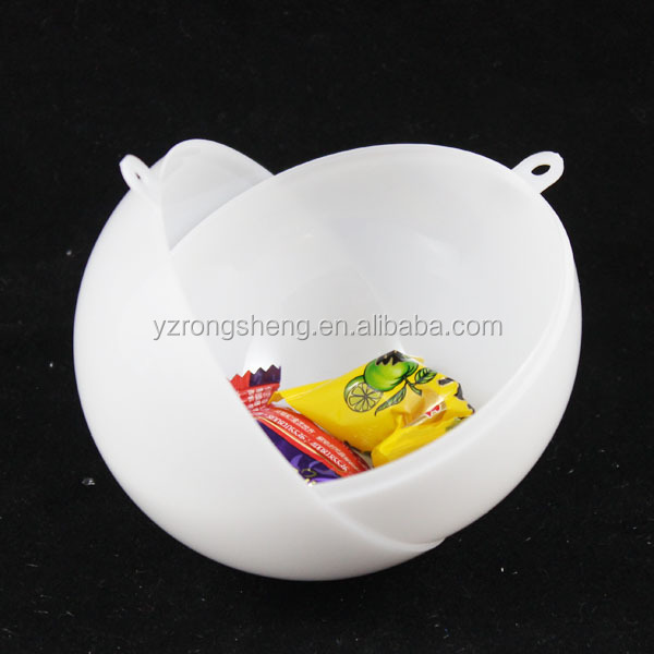 promotional solid white christmas two parts ball