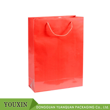 Alibaba Popular China Red Shopping Custom Logo Paper Bag Large