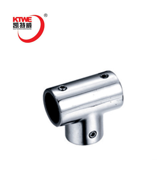 manufacturer 3 way tube elbow hinge glass connectors