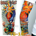 Free Shipping 2015 New Fashion Two Faced Sun Moon Fake Temporary Tattoo Sleeves Arm Sleeves For