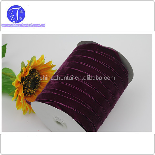 velvet ribbon 15mm purple , 240 color and 10 size available for hair bow decoration