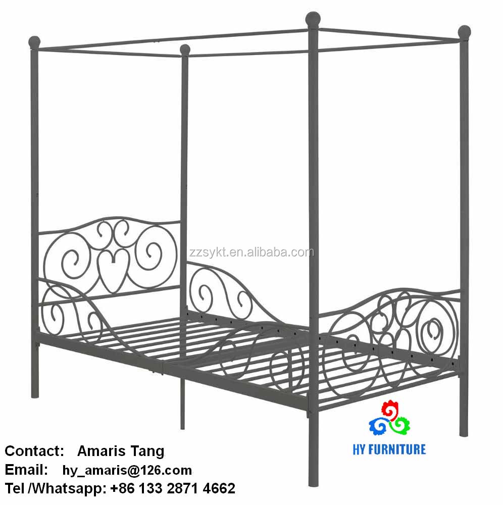 Elegant metal canopy beds frames wholesale