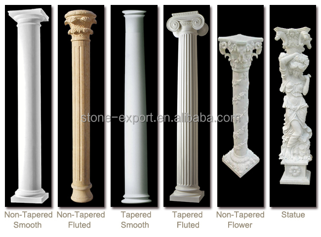 Charming Crystal White Marble Column Base Decorative Column
