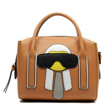 Richmalan----Newesrt design Funny Alien Cute PU Leather bags Bucket Tote bags with women crossbody bags