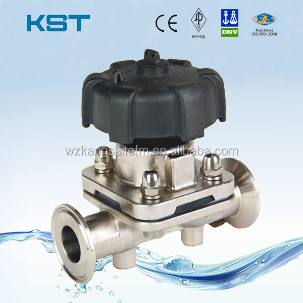 Zhejiang kangsaite valve source quality zhejiang kangsaite valve ss304 ss316 sanitary diaphragm valve with manual operation ccuart Gallery