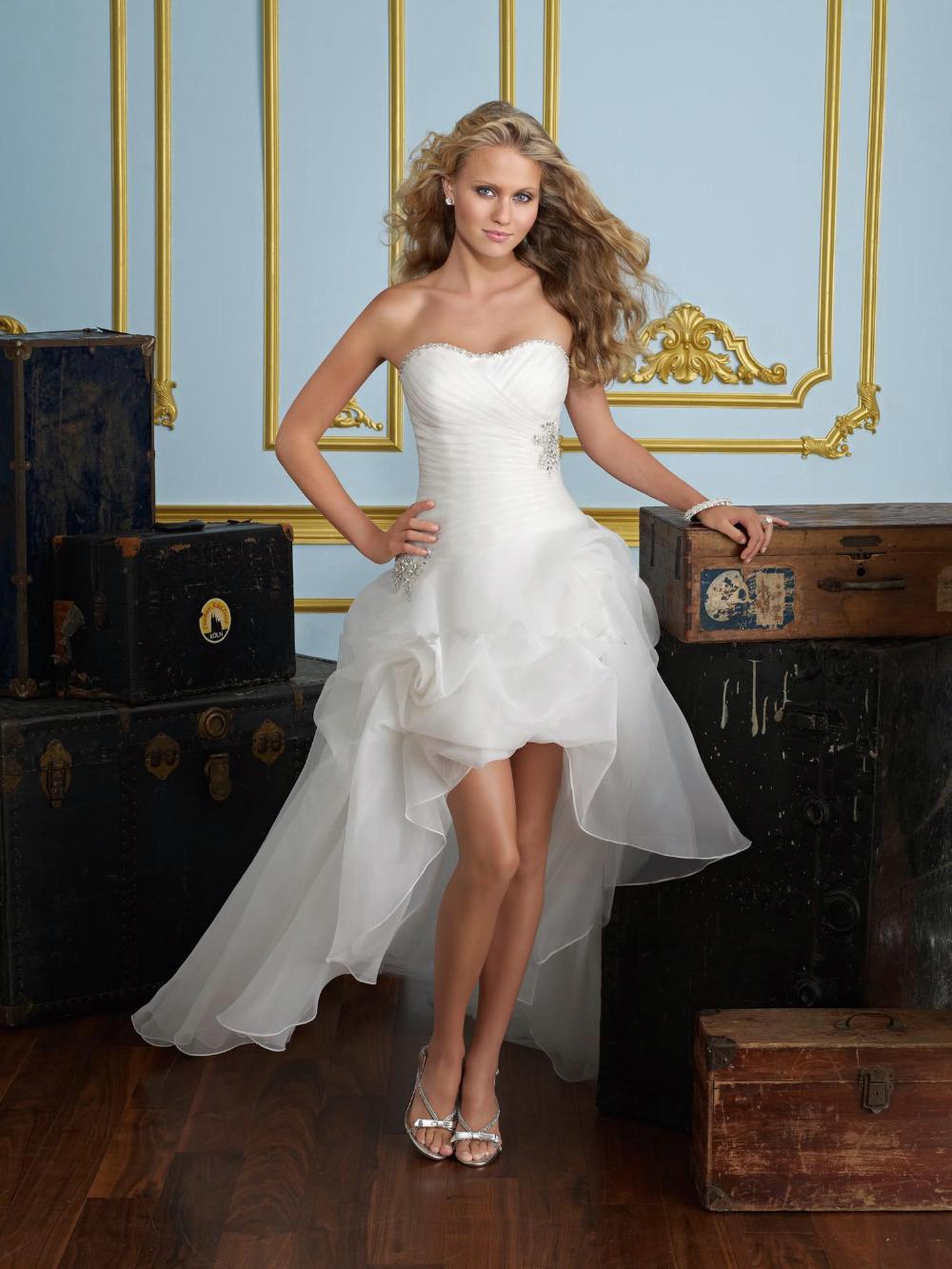 Wedding Dresses Short In Front With Long Train Bestweddingdresses