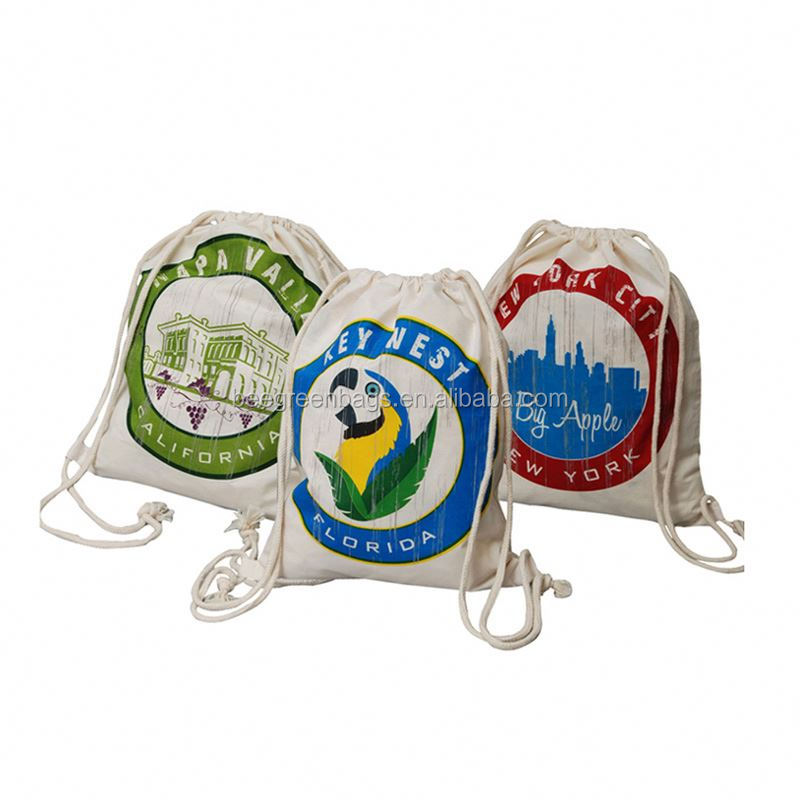 BeeGreen Custom Cotton drawstring back packs