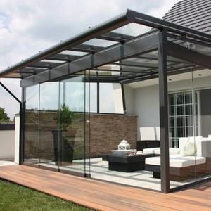 Easily installation aluminium free standing enclosed  sunroom sun rooms patio glass house