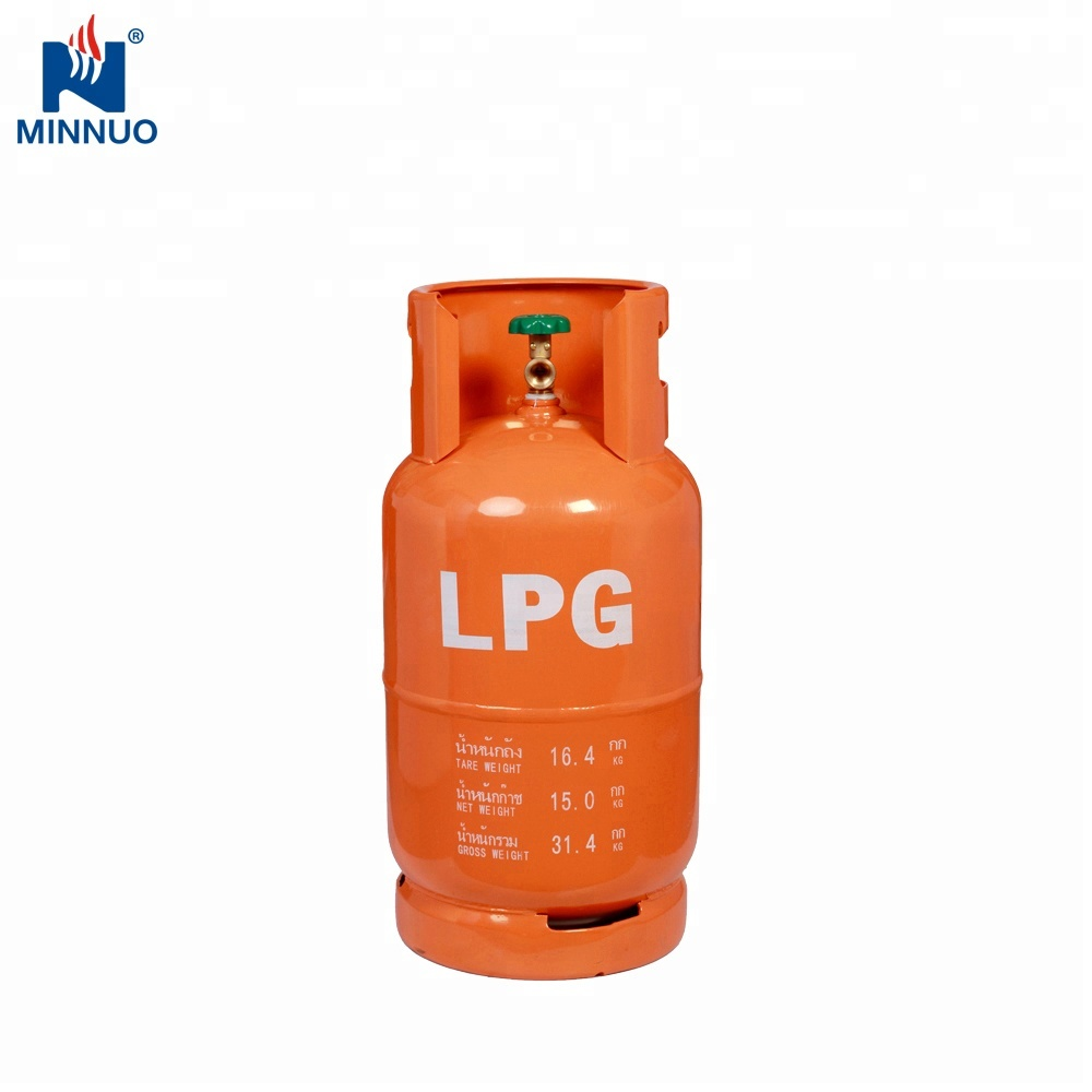DOT CE ISO4706 15kg 35.5L Cambodia Thailand empty lpg/propane/butane gas <strong>cylinder</strong>/tank/bottle for sale household kitchen cooking