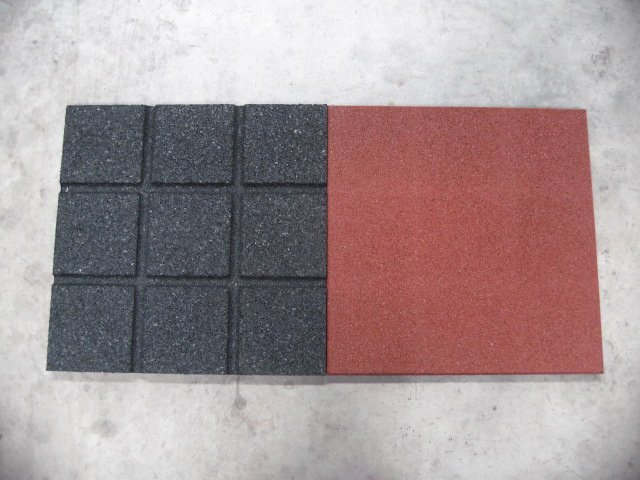 500mm cuadrado recycled rubber baldosas piso de baldosas - Baldosas de goma ...