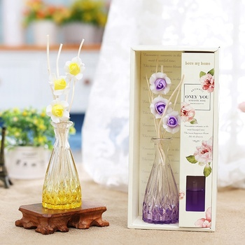 Customized home decoration reed diffuser glass bottle