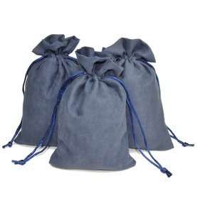 Anti-Tarnish Dust Proof Microfiber/Polyester Drawstring Travel Jewelry Pouch Small Jewelry Storage Pouch