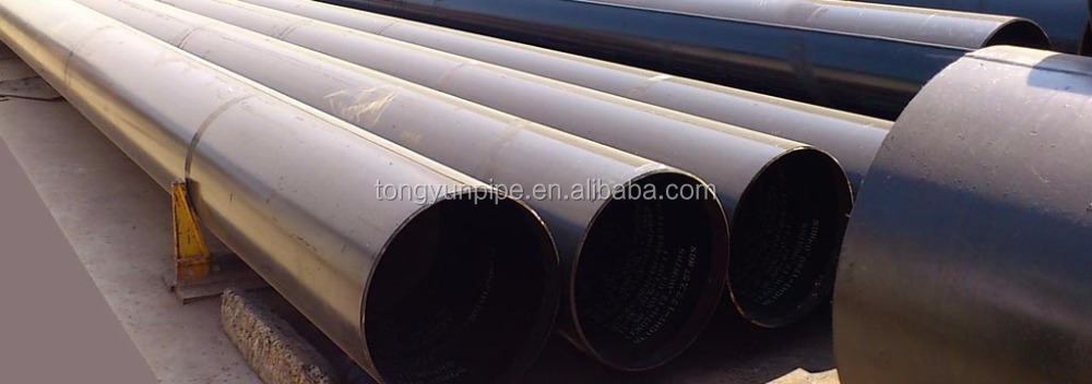 Contruction Materials / DIN EN API 5L SSAW / HSAW High Strength Spiral Welded Steel Pipe / Tube for Oil and Gas
