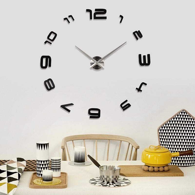 Diy Home Art Popular Design Watch 3d Wall Clock Art Wall Clock 3