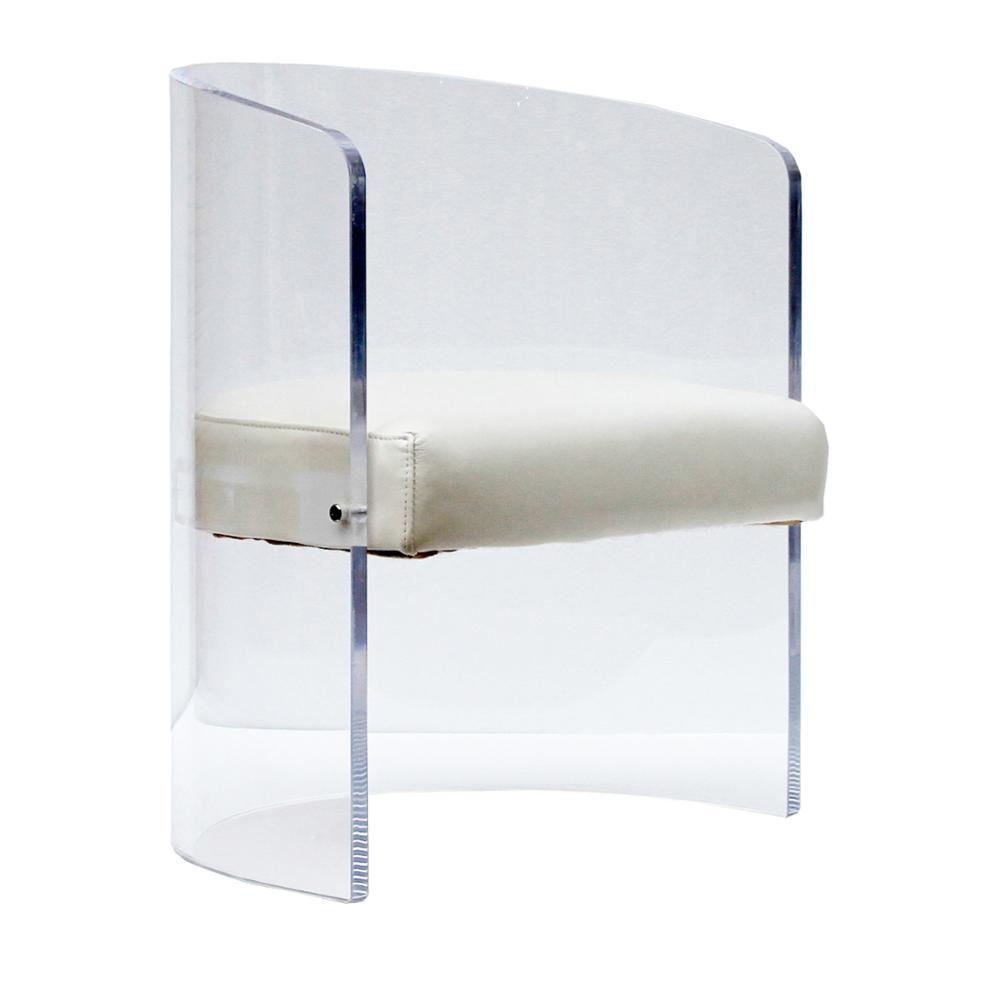 Moderne Weiß Leder Sitz Acryl Runde Stuhl Buy Acryl Runde Stuhl,Acryl Stuhl,Moderne Acryl Stuhl Product on