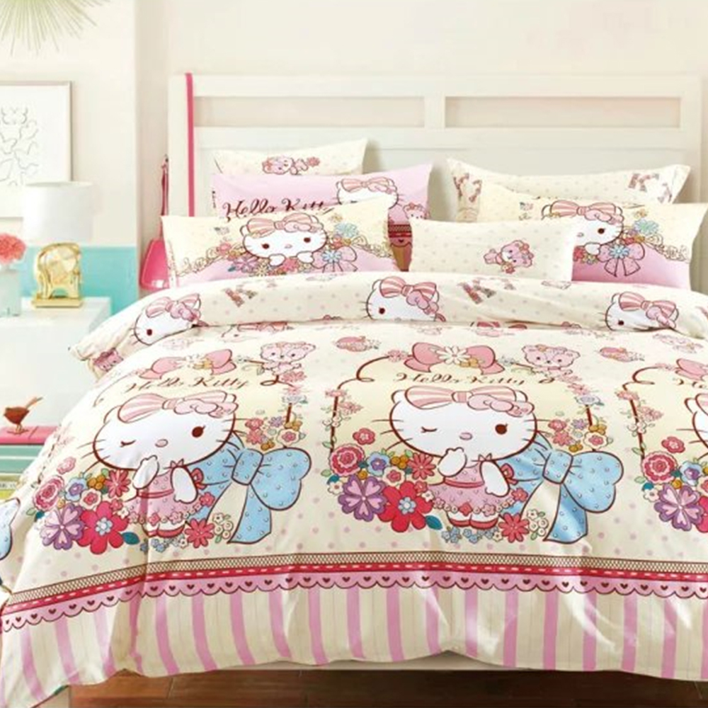Bed sheets designs for girls - Cheap Girls Bedroom Hello Kitty Design Flat Sheet Bed Sheets