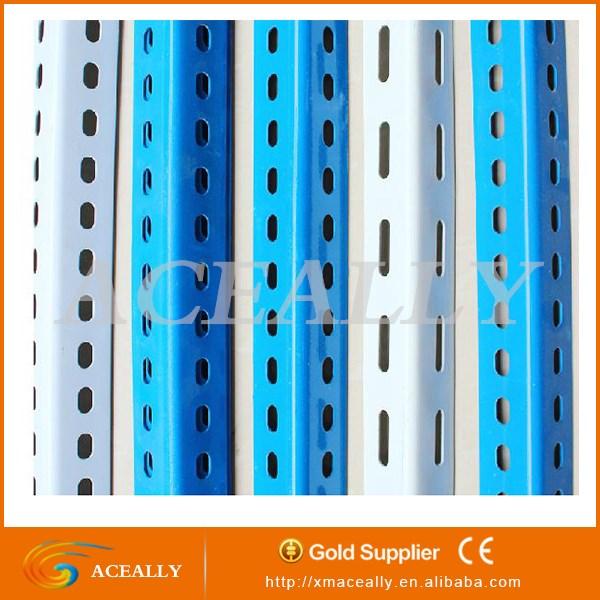 metal galvanized perforated iron racking shelving display 1 x 2 angle iron