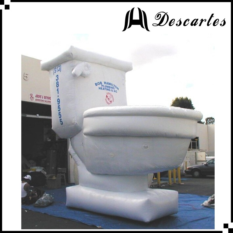 20ft height giant inflatable closestool, large inflatable toilet for event advertising