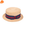 Embroidered Pattern and Image Style Summer Simple fedora Paper panama hat