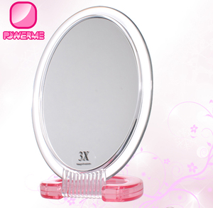 Two usage Oval Style CHEAP desk top mirror table makeup mirror 3X