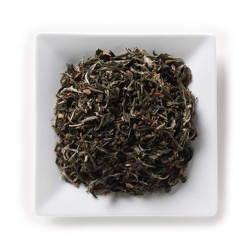 Mahamosa Pomegranate White Tea (Pai Mu Tan) 8 oz, Loose Leaf (Loose-Leaf) White Tea Blend (bai mu dan tea, bai mudan tea)(with pomegranate peels, safflowers, pomegranate flavor)