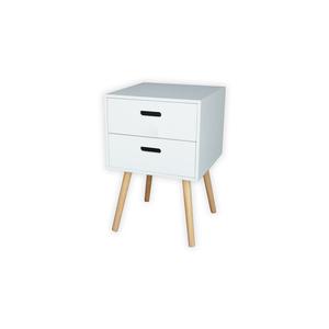 quality design ec9da 425a1 Mdf White Wooden Baroque Nightstand