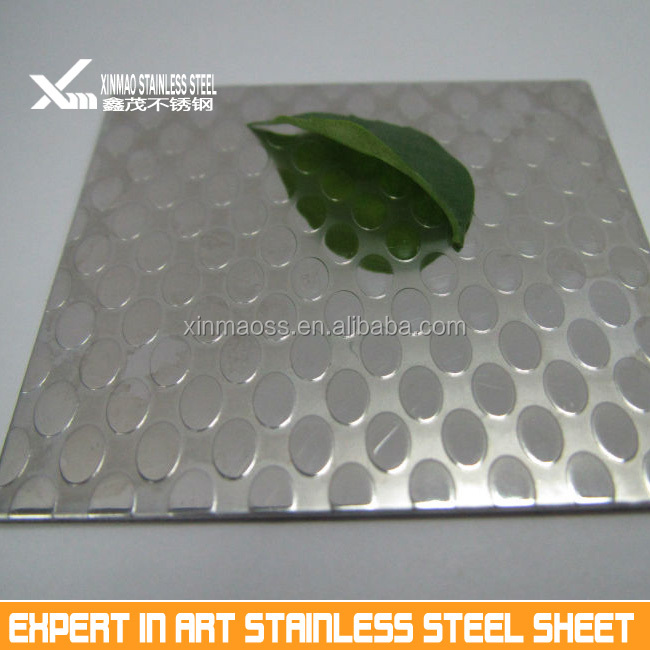 embossed oval design stainless steel sheet for decoration