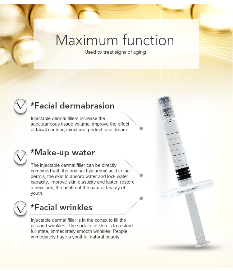 America 2ml CE Beauty sterile pure cross-linked beauty injection cheek filler injections for face finelines