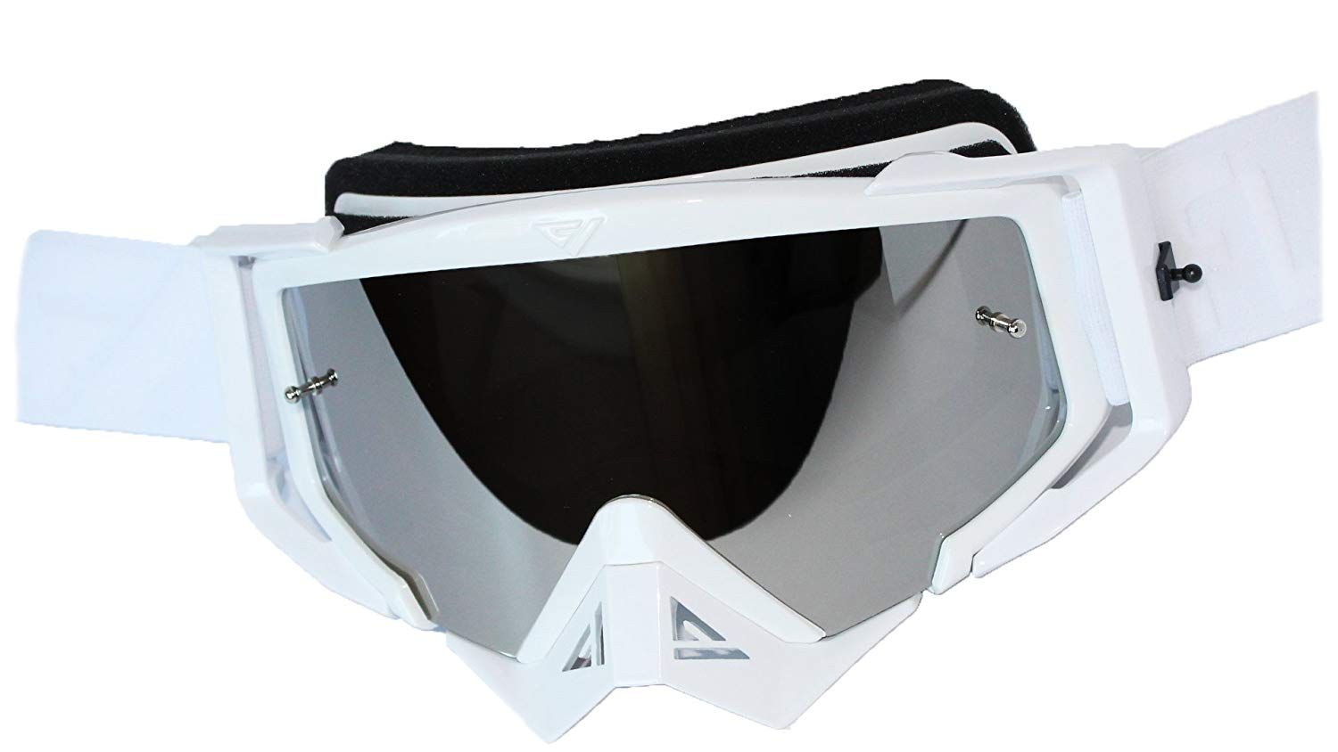 TWO-X Race Cross Goggles Factory Black White Glass Mirrored Green MX Goggles Motocross Enduro Mirror Glass Motorcycle Goggles Anti Scratch MX Protective Goggles