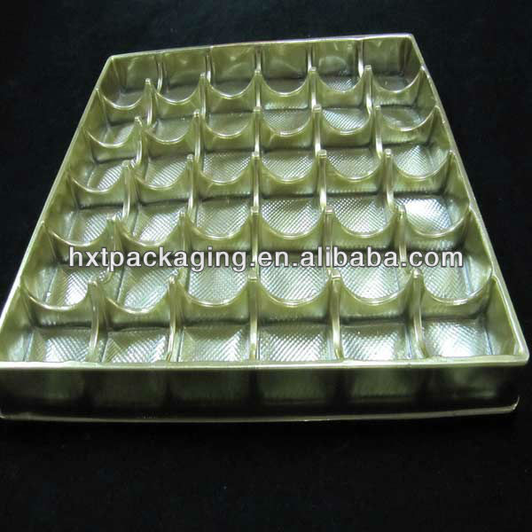 hot selling disposable plastic trays for chocolate boxes