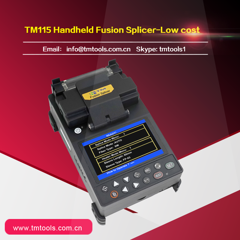 Lithium Battery TM115 Optical Fiber Fusion Splicer Fast Charging