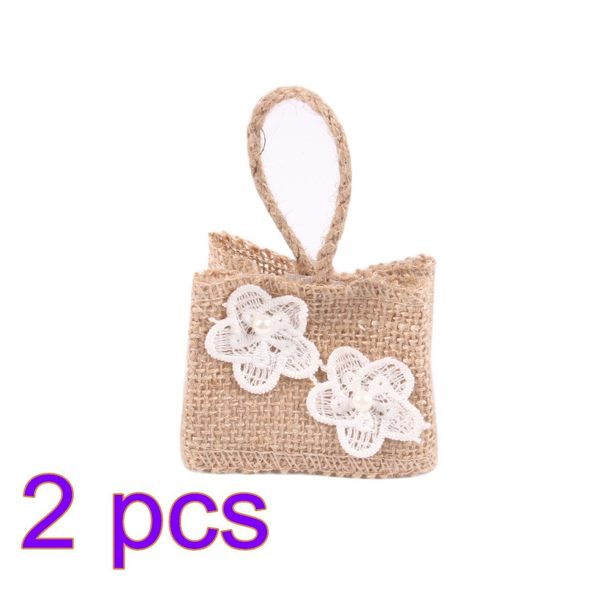 Buy OULII Christmas Gift Bags Linen Drawstring Bags Birthday Gift ...