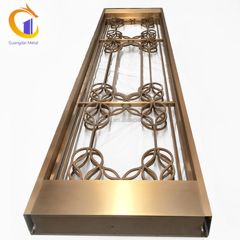Custom Manufacturing Hotel Restaurant Stainless Steel Partitions Removable Divider.