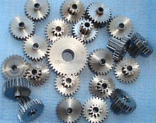Custom different double spur steel gear for paper shredder