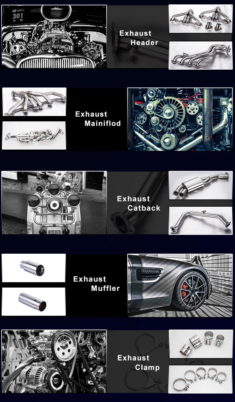EH-051 Factory Direct Sales Of  Stainless Performance Used Cold Headers Exhaust System Header