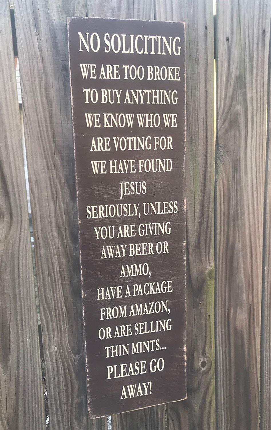 Get quotations · funny no soliciting sign no soliciting we are too broke to buy anything funny